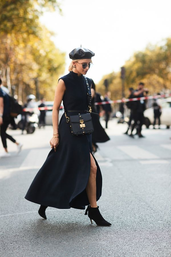 see the best paris fashion week street style whowhatwear. Black Bedroom Furniture Sets. Home Design Ideas