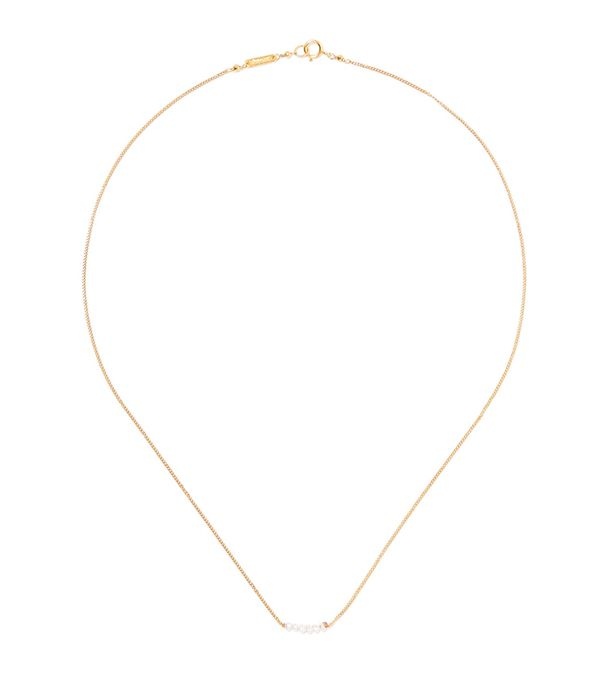 Gold-plated Pearl Necklace