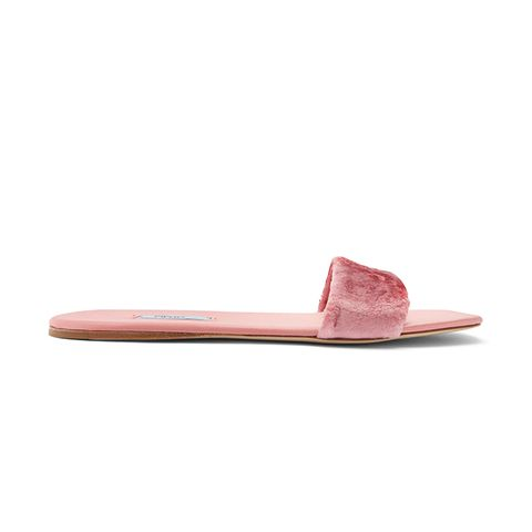 Crushed-Velvet Slides