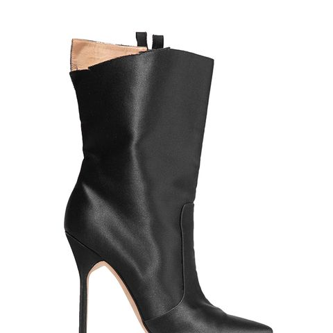 Cutout Satin Boots