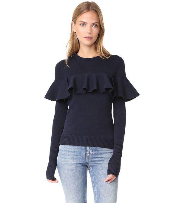 Knit Ruffle Sweater