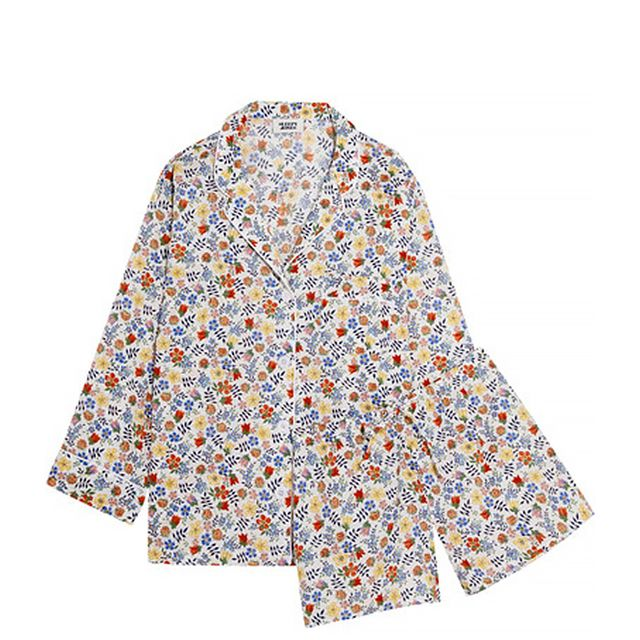 Marina And Paloma Floral-print Cotton Pajama Set