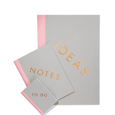 Set of Three Notebooks