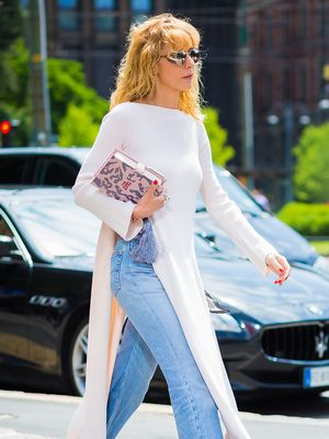 The Perfect Dress Style to Wear With Jeans