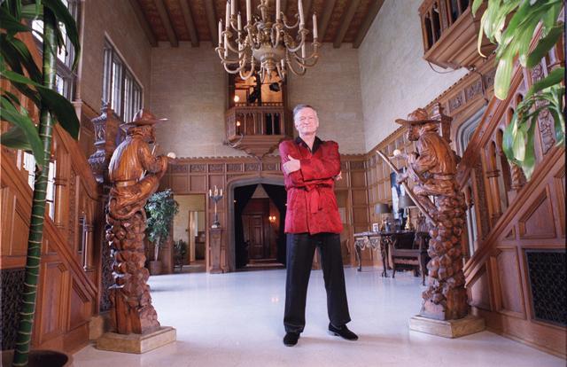 Hugh Hefner at Playboy Mansion
