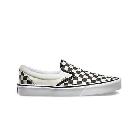 Checkerboard Slip On Sneakers