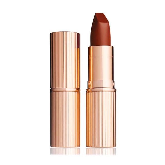 How to wear brown lipstick: Charlotte Tilbury Matte Revolution in Birkin Brown