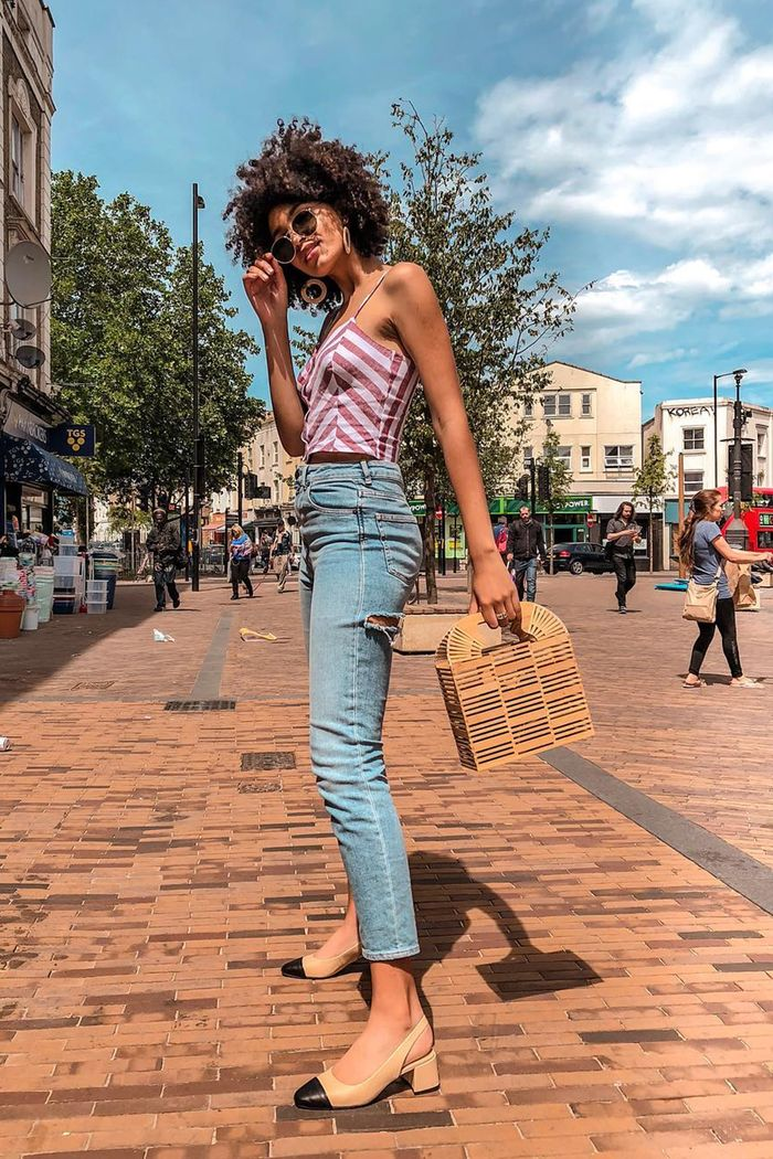 closet purge: asos syana wearing jeans and a cami top