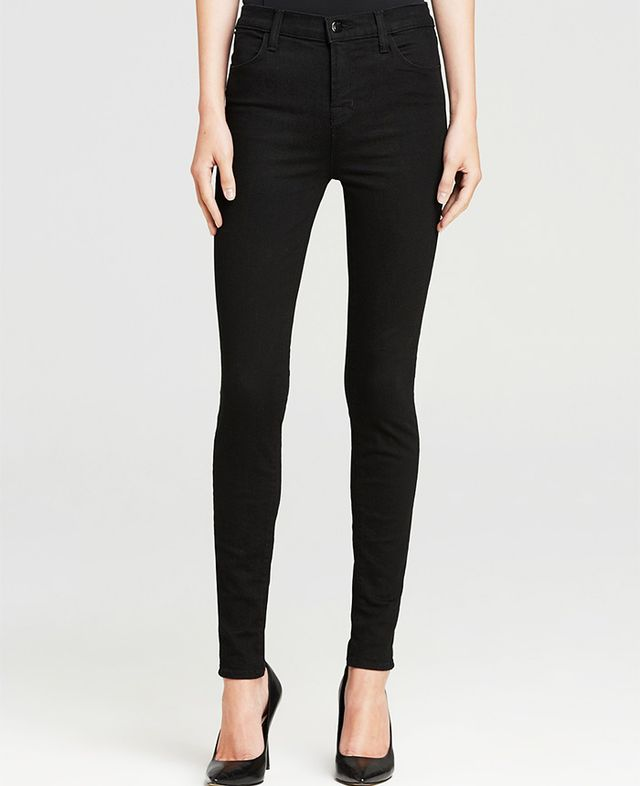 Maria High Rise Skinny Jeans in Seriously Black