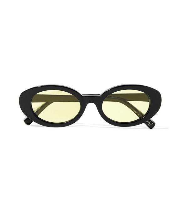 Mckinley Oval-frame Acetate Sunglasses