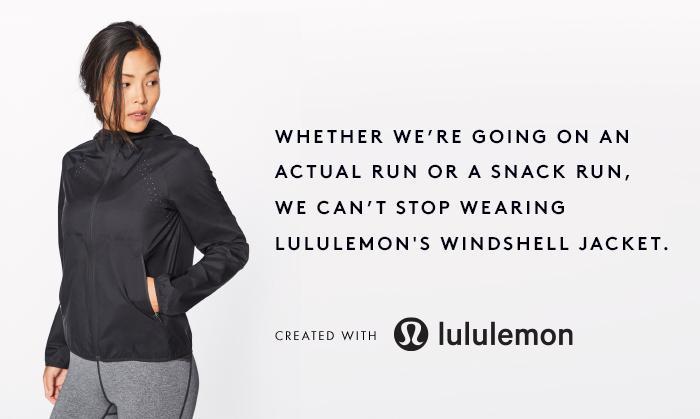 lululemon windshell jacket