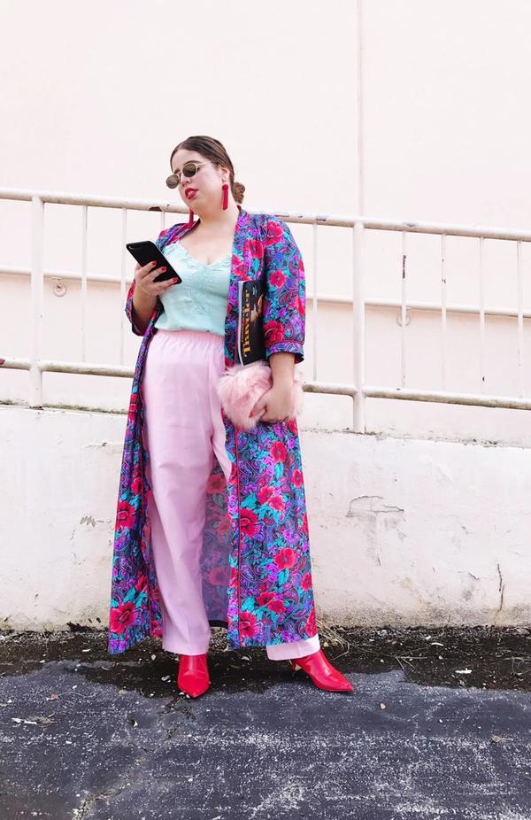 Day 14: Pair a silk kimono with bright colors.