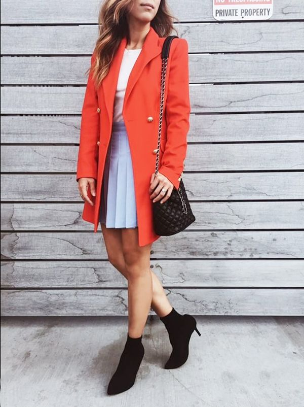Day 3: Go for an easy three-piece ensemble for fall.