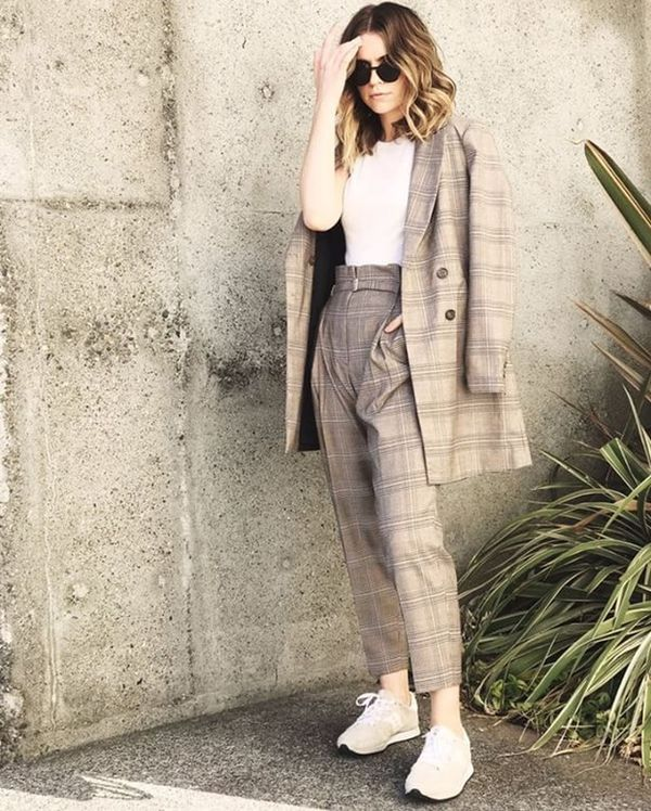 Day 2: Sport the patterned suit trend.