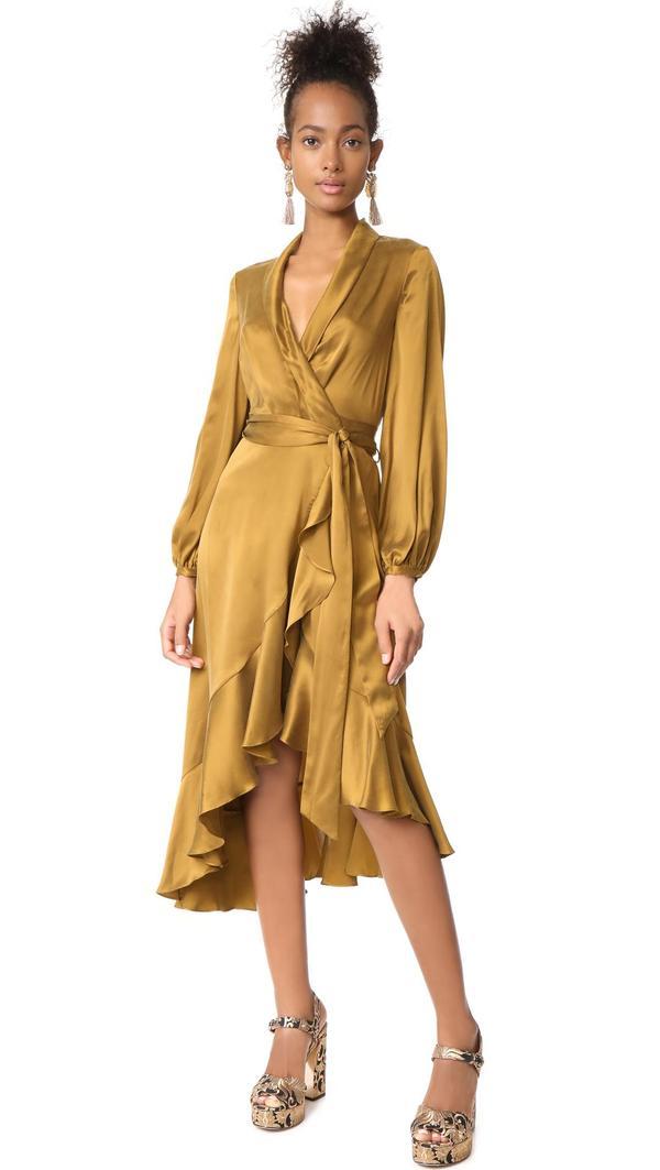 Wrap Flounce Dress