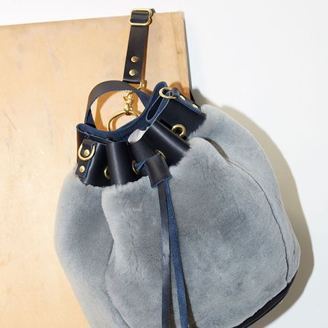 Shearling Bucket Backpack