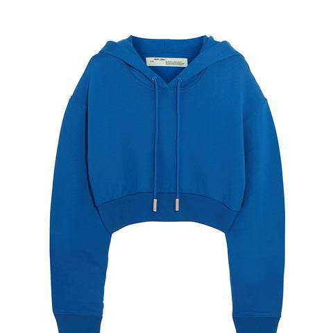 Cropped Cotton-Jersey Sweatshirt
