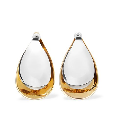 Petal Gold-Dipped and Silver Earrings
