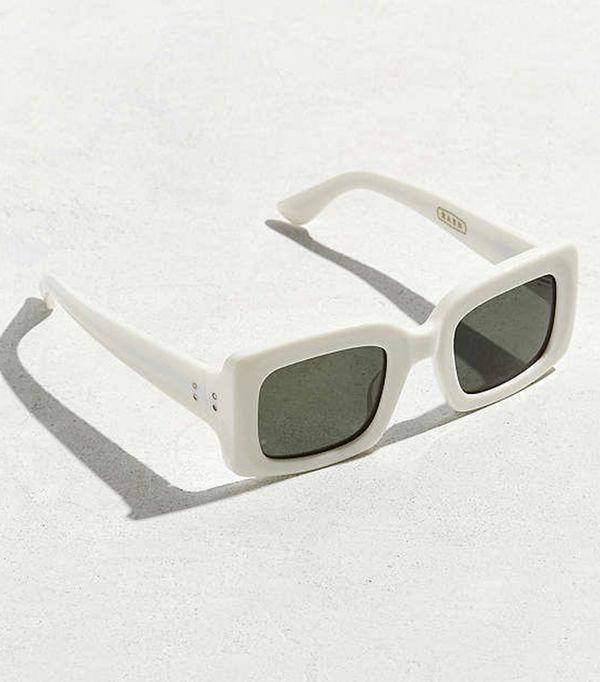 Flatscreen Sunglasses - White One Size at Urban Outfitters