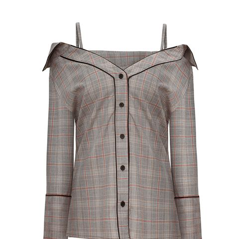 Stella Plaid Strappy OTS Shirt