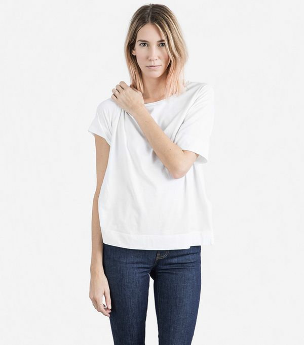 Women's Cotton Drop-Shoulder T-Shirt by Everlane in White, Size XS