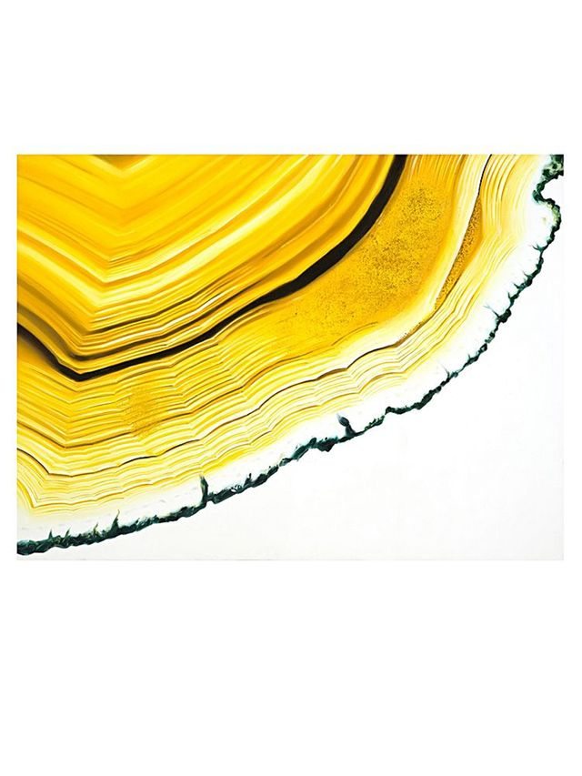 Urban Road Agate Section Yellow Print