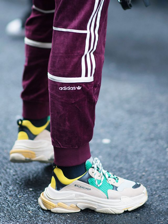 Triple S Sneakers Balenciaga: Worn with Adidas trousers