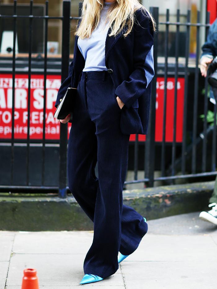 Corduroy blazer trend: Pernille Teisbaek