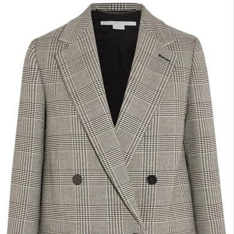 Milly Prince of Wales Checked Wool-blend Blazer