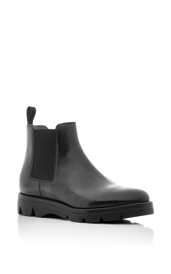 Polished Leather Chelsea Boots