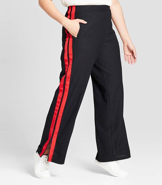 Plus Size Wide Leg Track Pants