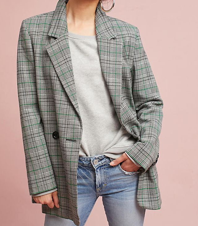 Plaid Long Blazer