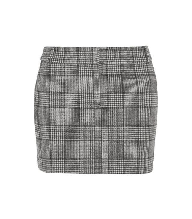 Aldridge Checked Wool-blend Tweed Mini Skirt