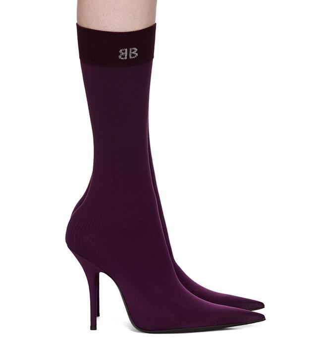 Balenciaga BB Heeled Sock Boots