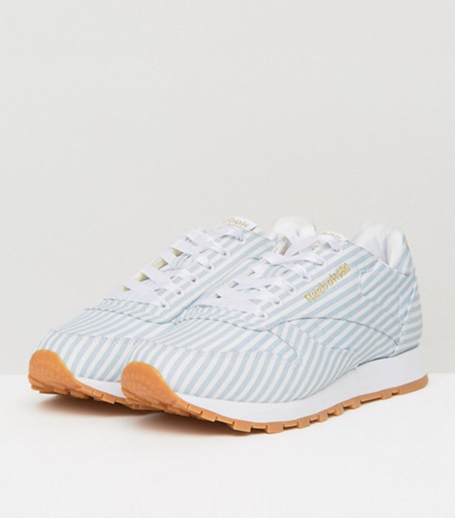 ASOS White x Reebok Classic Leather in Shirting