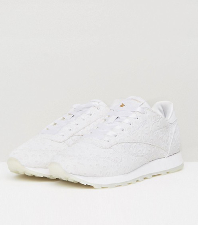 ASOS White x Reebok Classic Leather in Broderie Anglaise