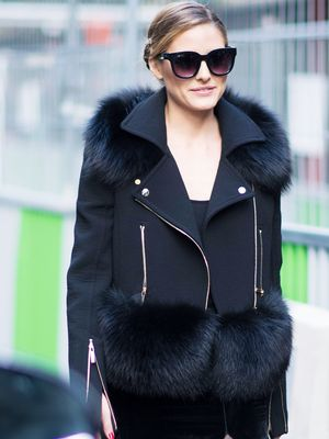 What Olivia Palermo Wears Flat Black Ankle Boots With