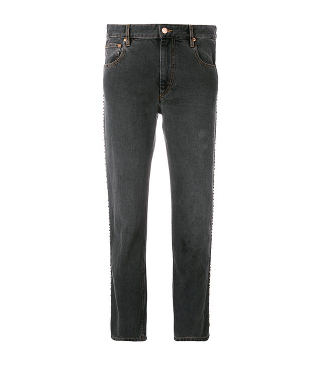 Best Jeans for Big Butts: Isabel Marant Studded Girlfriend Jeans