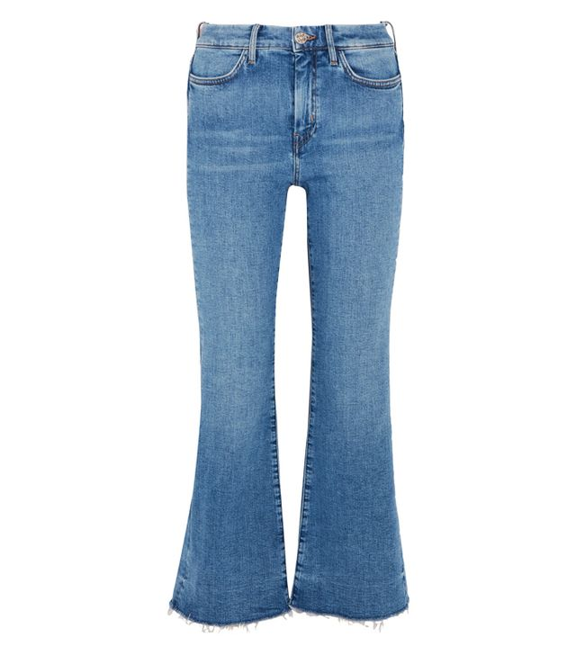 Best Jeans for Big Butts: M.i.h Jeans Lou Frayed High-Rise Flared Jeans