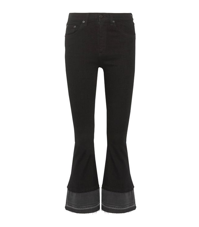 Best Jeans for Big Butts: Rag & Bone Cropped High-Rise Flared Jeans