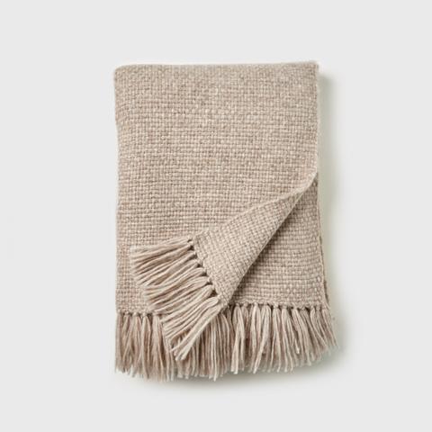 Alpaca Basketweave Throw Blanket