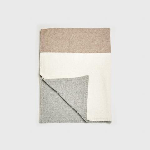 Alpaca Colorblock Throw Blanket