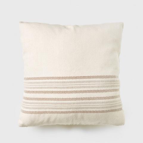 Alpaca Stripe Square Pillow