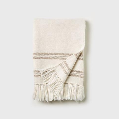 Alpaca Stripe Throw Blanket