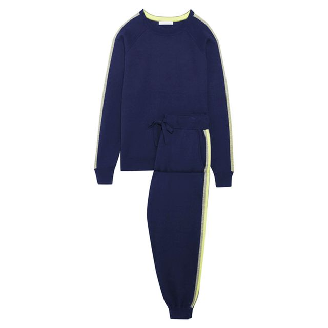 Period pain: Olivia Von Halle New York Sweatshirt snd Track Pants