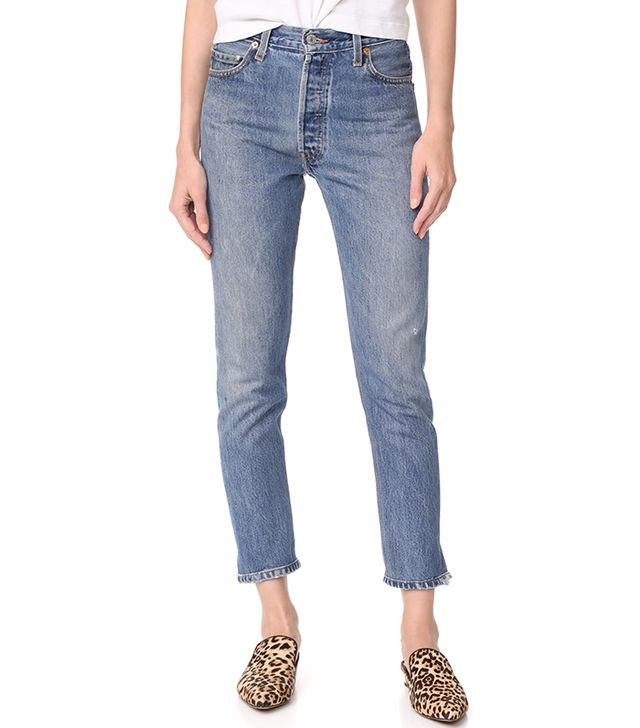 x Levi's High Rise Ankle Crop Jeans