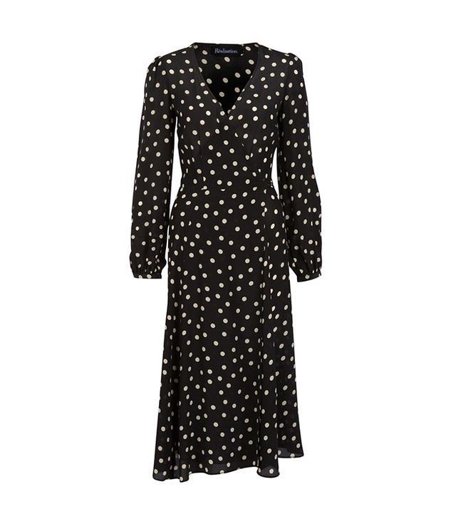 Réalisation The Violette Dress in Black & White Spot
