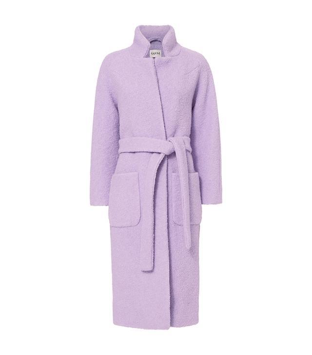 Fenn Pastel Lilac Wrap Coat