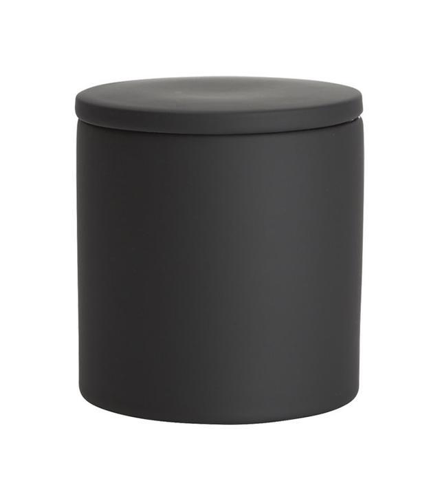CB2 Rubber Coated Black Bath Accessories