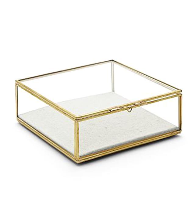 Golden Glass Shadow Box